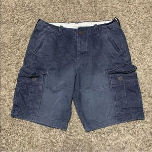 Abercrombie Shorts Cargo Button Fly Distressed